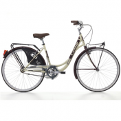 "CITY BIKE 26 CINZIA LIBERTY STEEL ""FOR LADY"" MONOSPEED CREME/RED DARK SIZE 44"