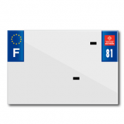 PLASTIC STRIP FOR PVC LICENSE PLATE WITH BUSINESS NAME (MOTORBIKE FORMAT 210X145)-DEPT 81/EUROPE (SOLD PER UNIT)