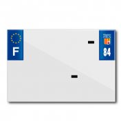 PLASTIC STRIP FOR PVC LICENSE PLATE WITH BUSINESS NAME (MOTORBIKE FORMAT 210X145)-DEPT 84/EUROPE (SOLD PER UNIT)