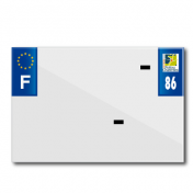 PLASTIC STRIP FOR PVC LICENSE PLATE WITH BUSINESS NAME (MOTORBIKE FORMAT 210X145)-DEPT 86/EUROPE (SOLD PER UNIT)