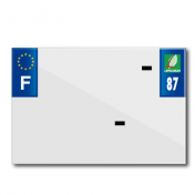 PLASTIC STRIP FOR PVC LICENSE PLATE WITH BUSINESS NAME (MOTORBIKE FORMAT 210X145)-DEPT 87/EUROPE (SOLD PER UNIT)