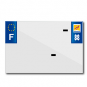 PLASTIC STRIP FOR PVC LICENSE PLATE WITH BUSINESS NAME (MOTORBIKE FORMAT 210X145)-DEPT 88/EUROPE (SOLD PER UNIT)