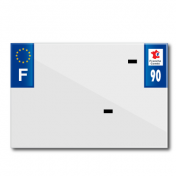 PLASTIC STRIP FOR PVC LICENSE PLATE WITH BUSINESS NAME (MOTORBIKE FORMAT 210X145)-DEPT 90/EUROPE (SOLD PER UNIT)