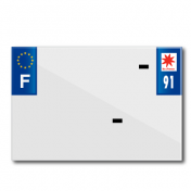 PLASTIC STRIP FOR PVC LICENSE PLATE WITH BUSINESS NAME (MOTORBIKE FORMAT 210X145)-DEPT 91/EUROPE (SOLD PER UNIT)
