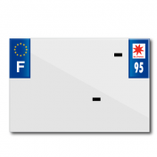 PLASTIC STRIP FOR PVC LICENSE PLATE WITH BUSINESS NAME (MOTORBIKE FORMAT 210X145)-DEPT 95/EUROPE (SOLD PER UNIT)