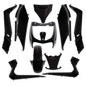 FAIRINGS/BODY PARTS FOR MAXISCOOTER YAMAHA 125 XMAX 20062009/MBK 125 SKYCRUISER 20062009 BLACK GLOSS (10 PARTS KIT)