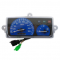 SPEEDOMETER FOR SCOOT (REPLAY) MBK 50 BOOSTER 1999>2003/YAMAHA 50 BWS 1999>2003 (180KM/H, BLUE, 3 PLUGS)
