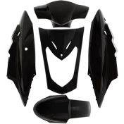 FAIRINGS/BODY PARTS FOR SCOOT KYMCO 50 AGILITY (DUAL SEAT), 125 AGILITY (DUAL SEAT) BLACK GLOSS (5 PARTS KIT)