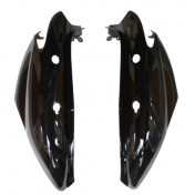 REAR SIDE COVER FOR SCOOT MBK 50 OVETTO 2008>/YAMAHA 50 NEOS 2008> -GLOSS BLACK- (PAIR)
