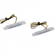DECORATIVE LIGHTNING REPLAY BAR SHAPED WITH BLUE LEDS (PAIR)