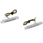 DECORATIVE LIGHTNING REPLAY BAR SHAPED WITH CLEAR LEDS (PAIR)