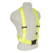 REFLECTIVE WARNING VEST KAPPA - YELLOW (ADJUSTABLES STRAPS - WAIST SIZE MIN 90cm to MAX152cm - STRAPS HEIGHT MIN 47cm to MAX 64cm)