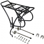 """LUGGAGE RACK-REAR- ON STAYS- P2R DISC ALUMINIUM-BLACK ADJUSTABLE FOR 26""""to 29"""" for DISC BRAKE"""