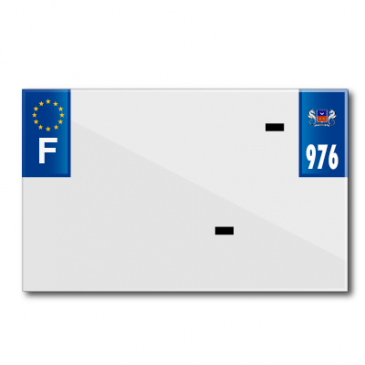 PLASTIC STRIP FOR BLANK PVC LICENSE PLATE (MOTORBIKE FORMAT 210X130)-DEPT 976/EUROPE (SOLD PER UNIT)