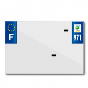 PLASTIC STRIP FOR PVC LICENSE PLATE WITH BUSINESS NAME (MOTORBIKE FORMAT 210X145)-DEPT 971/EUROPE (SOLD PER UNIT)