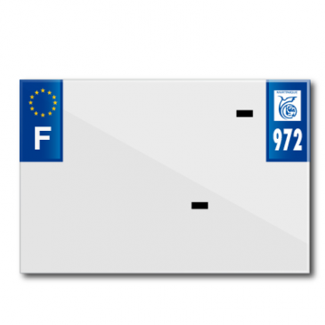 PLASTIC STRIP FOR PVC LICENSE PLATE WITH BUSINESS NAME (MOTORBIKE FORMAT 210X145)-DEPT 972/EUROPE (SOLD PER UNIT)