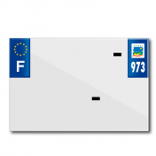 PLASTIC STRIP FOR PVC LICENSE PLATE WITH BUSINESS NAME (MOTORBIKE FORMAT 210X145)-DEPT 973/EUROPE (SOLD PER UNIT)