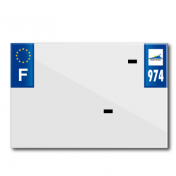 PLASTIC STRIP FOR PVC LICENSE PLATE WITH BUSINESS NAME (MOTORBIKE FORMAT 210X145)-DEPT 974/EUROPE (SOLD PER UNIT)