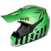 HELMET-CROSS ENDURO SHIRO MX-305 SCORPION GREEN METALIC L