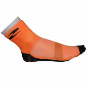 CYCLING SOCKS-SUMMER-COTTON- ORANGE 40/43 EURO-HEIGHT 10 cm (PAIR)