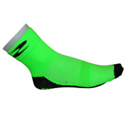CYCLING SOCKS-SUMMER-COTTON- GREEN 40/43 EURO-HEIGHT 10 cm (PAIR)