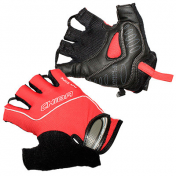 ADULT CYCLING GLOVE- CHIBA AIR ZONE GEL RED L -CARPAL TUNNEL PROTECTION- (PAIR)