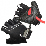 ADULT CYCLING GLOVE- CHIBA AIR ZONE GEL BLACK L -CARPAL TUNNEL PROTECTION- (PAIR)