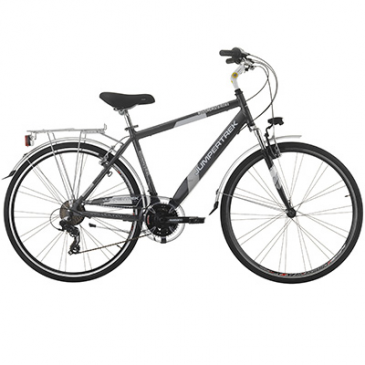 Hybrid Bike 28 Jumpertrek Discovery Aluminium Men 21 Speed Matt