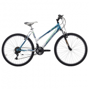 "ATB BIKE 26"" JUMPERTREK XTRAIL STEEL ""LADY"" -WITH TELESCOPIC FORK- 18 SPEED - WHITE/BLUE- SIZE 47 (SHIMANO RS-35+TY-21)"