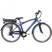 """E/BIKE """"TREKKING"""" NEWTON SPORT 27,5"""" ALUMINIUM HOMME WITH LCD DISPLAY, BLUE- 6VTS, ENGINE 250W, BATTERY LITHIUM ION 36V - 13Ah - 468W - SIZE 46 (AUTONOMY- 55 to 80 Kms)"""