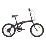 "FOLDING BIKE 20"" CINZIA C-FOLD TROLLEY STEEL 6 SPEED MATT BLACK/RED SIZE 31 (SHIMANO RS-35+TY-21)"