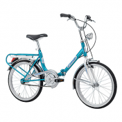 "FOLDING BIKE 20"" CINZIA FIRENZE STEEL SINGLESPEED- BLUE SIZE 38"