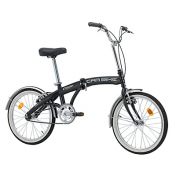 "FOLDING BIKE 20"" CINZIA CAR-BIKE STEEL SINGLESPEED - MATT BLACK SIZE 31"