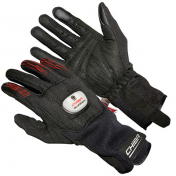 ADULT CYCLING GLOVE-LONG- CHIBA ROAD MASTER -BLACK- L (PAIR) WITH TURN SIGNAL LIGHT