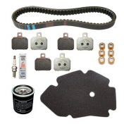 MAINTENANCE KIT FOR MAXISCOOTER 125 X9 1998>2005 (WITH 3 BREMBO BRAKE PADS SET BREMBO 647076)-PIAGGIO GENUINE PART -
