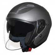 HELMET-OPEN FACE MT BOULEVARD SV DOUBLE VISORS GREY TITANIUM MAT XL