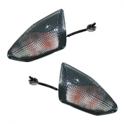 FLASHER FOR SCOOT MBK 50 NITRO 2013/YAMAHA 50 AEROX 2013 - FRONT - TRANSPARENT PAIR -REPLAY-