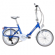"FOLDING BIKE 20"" CINZIA SIXTIES ALUMINIUM 6 SPEED BLUE- SIZE 40 (SHIMANO RS-35+TY-21)"