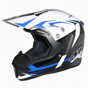 CASQUE CROSS ADULTE MT SYNCHRONY STEEL NOIR/BLANC/BLEU L