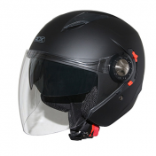HELMET-OPEN FACE ADX JT4 MATT BLACK L (DOUBLE VISORS)