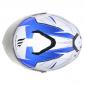 CASQUE INTEGRAL MT THUNDER 3 SV EFFECT NACRE BLANC BLEU BRILLANT XL DOUBLE ECRANS PINLOCK READY