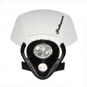 HEADLIGHT FAIRING FOR 50cc MOTORBIKE POLISPORT IMX WHITE (CEE APPROVED)