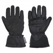 GLOVES ADX-WINTER HIGHWAY BLACK T 7 (XS) (TEXTILE + PROTECTION SHELL+ POLAR FLEECE LINING)