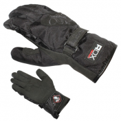 GLOVES ADX-WINTER CITY LADY BLACK T 6 (XXS) ( POLYESTER +SYNTHETIC LEATHER+POLAR FLEECE LINING)
