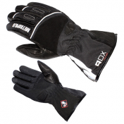 GLOVES ADX-WINTER METROPOLIS BLACK T 7 (XS) (POLYESTER SOFTSHELL + MATT + LEATHER/POLAR FLEECE LINING)