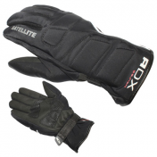 GLOVES ADX-WINTER SATELLITE BLACK T 7 (XS) (POLYESTER SOFTSHELL +SYNTHETIC LEATHER+POLAR FLEECE LINING)