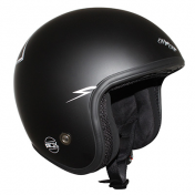 HELMET-OPEN FACE ADX LEGEND MAGIC RIDER MATT BLACK S