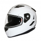 HELMET- FLIP-UP MT FLUX DOUBLE VISORS WHITE GLOSSY XXL