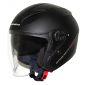 HELMET-OPEN FACE MT BOULEVARD SV DOUBLE VISORS MATT BLACK L