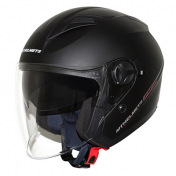 HELMET-OPEN FACE MT BOULEVARD SV DOUBLE VISORS MATT BLACK XL